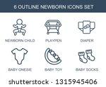 6 newborn icons. trendy newborn ... | Shutterstock .eps vector #1315945406