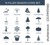 season icons. trendy 16 season... | Shutterstock .eps vector #1315945460