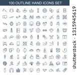 hand icons. trendy 100 hand... | Shutterstock .eps vector #1315945619