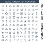 100 Water Icons. Trendy Water...