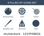 hit icons. trendy 6 hit icons.... | Shutterstock .eps vector #1315948826