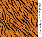tiger texture seamless animal... | Shutterstock .eps vector #1315949303