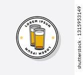 beer glass logo sticker badge... | Shutterstock .eps vector #1315953149