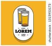 beer glass logo sticker badge... | Shutterstock .eps vector #1315953173
