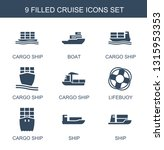 9 cruise icons. trendy cruise... | Shutterstock .eps vector #1315953353