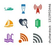 wave icons. trendy 9 wave icons.... | Shutterstock .eps vector #1315953446
