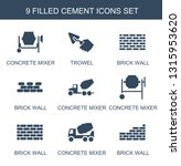 cement icons. trendy 9 cement... | Shutterstock .eps vector #1315953620