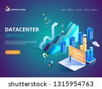 datacenter services. internet... | Shutterstock .eps vector #1315954763