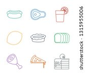 slice icons. trendy 9 slice... | Shutterstock .eps vector #1315955006