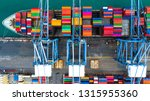 container ship carrying... | Shutterstock . vector #1315955360