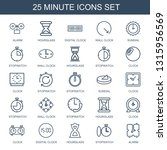minute icons. trendy 25 minute... | Shutterstock .eps vector #1315956569