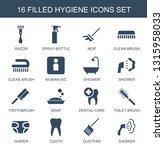16 hygiene icons. trendy... | Shutterstock .eps vector #1315958033