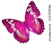 Stock photo pink butterfly isolated on white background 131595986