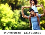 portrait of young father... | Shutterstock . vector #1315960589