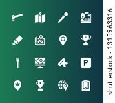 place icon set. collection of... | Shutterstock .eps vector #1315963316