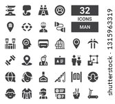 man icon set. collection of 32... | Shutterstock .eps vector #1315963319