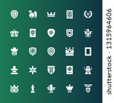 insignia icon set. collection... | Shutterstock .eps vector #1315964606