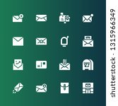 postage icon set. collection of ... | Shutterstock .eps vector #1315966349