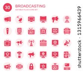 broadcasting icon set.... | Shutterstock .eps vector #1315966439