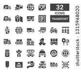 transport icon set. collection... | Shutterstock .eps vector #1315968020
