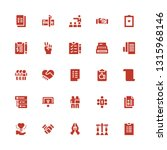 agreement icon set. collection... | Shutterstock .eps vector #1315968146