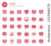 wide icon set. collection of 30 ... | Shutterstock .eps vector #1315968170