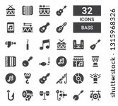 bass icon set. collection of 32 ... | Shutterstock .eps vector #1315968326