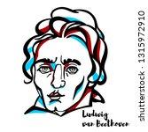 ludwig van beethoven engraved... | Shutterstock . vector #1315972910