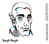 joseph haydn engraved portrait... | Shutterstock . vector #1315972913
