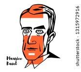 maurice ravel engraved portrait ... | Shutterstock . vector #1315972916