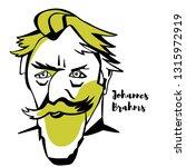johannes brahms engraved... | Shutterstock . vector #1315972919