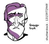giuseppe verdi engraved... | Shutterstock . vector #1315972949