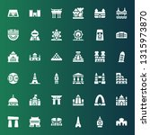 monument icon set. collection... | Shutterstock .eps vector #1315973870