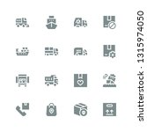 delivering icon set. collection ... | Shutterstock .eps vector #1315974050