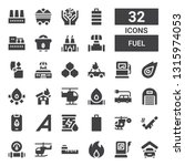 fuel icon set. collection of 32 ... | Shutterstock .eps vector #1315974053