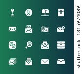 receive icon set. collection of ... | Shutterstock .eps vector #1315974089