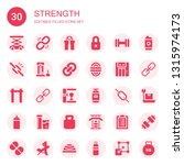 strength icon set. collection... | Shutterstock .eps vector #1315974173