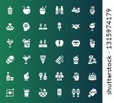 shake icon set. collection of... | Shutterstock .eps vector #1315974179
