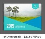 cover design for annual report...   Shutterstock .eps vector #1315975499
