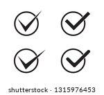 v letter logo template check... | Shutterstock .eps vector #1315976453