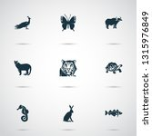 animal icons set with ox  hare  ... | Shutterstock .eps vector #1315976849