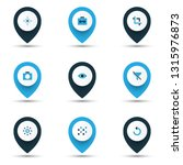 photo icons colored set with... | Shutterstock .eps vector #1315976873