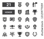 honor icon set. collection of... | Shutterstock .eps vector #1315977059
