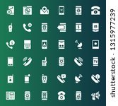 receiver icon set. collection... | Shutterstock .eps vector #1315977239