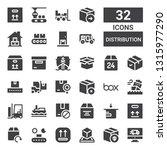 distribution icon set....   Shutterstock .eps vector #1315977290
