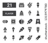 flavor icon set. collection of... | Shutterstock .eps vector #1315979780
