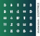 pint icon set. collection of 25 ...   Shutterstock .eps vector #1315979813