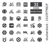 recreational icon set.... | Shutterstock .eps vector #1315979819