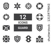 guard icon set. collection of... | Shutterstock .eps vector #1315979843