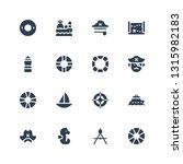 nautical icon set. collection... | Shutterstock .eps vector #1315982183